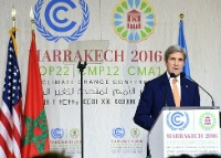 Date: 11/16/2016 Description: Secretary Kerry Delivers Remarks at COP22 in Marrakech - State Dept Image
