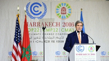 Secretary Kerry Delivers Remarks at COP22 in Marrakech