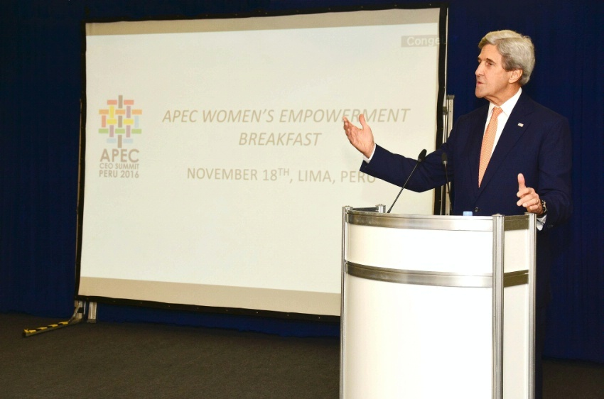 Secretary Kerry Delivers Remarks at the Women's Empowerment Breakfast in Lima
