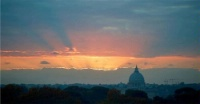 Date: 12/06/2016 Description: The setting sun as seen against St. Peter's Basilica on December 2, 2016, in Rome, Italy.  - State Dept Image