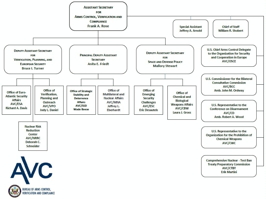 Organizational Chart Of A Small Hotel: Arms Control Verification and Compliance: Organization Chart,Chart