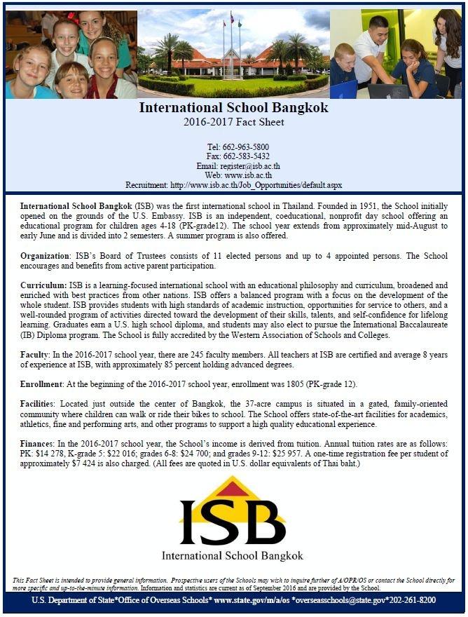 Thailand, Bangkok: International School Bangkok