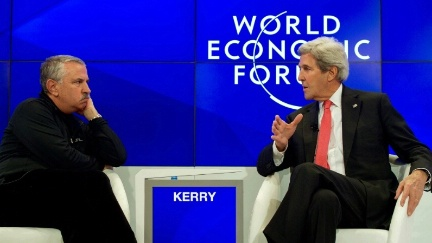 Secretary Kerry Speaks With New York Times Columnist Friedman at the World Economic Forum in Davos