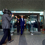 Secretary Kerry Departs the Department of State After Delivering Farewell Remarks