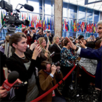 Secretary Kerry Greets the Department's Press Corps After Delivering Farewell Remarks
